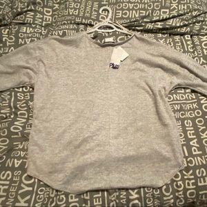 Woman's 3/4 length sleeve. Grey NWT